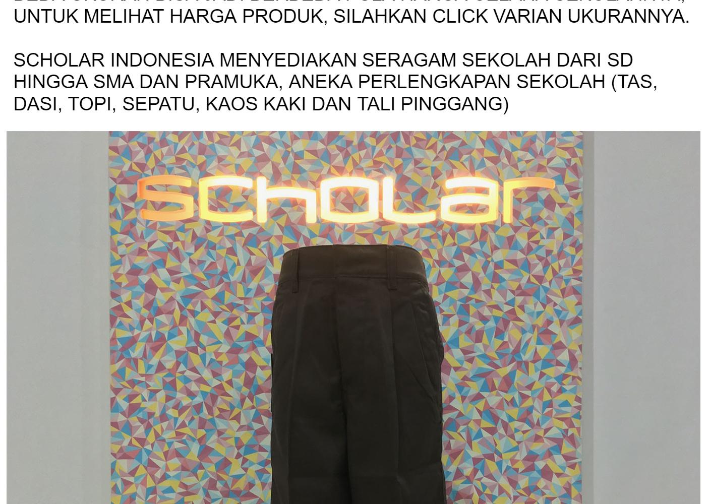 Jual Beli Celana Pramuka Pendek Smp Sma Scholar Indonesia Harga Rp Kaos Kaki Order Via Lazada