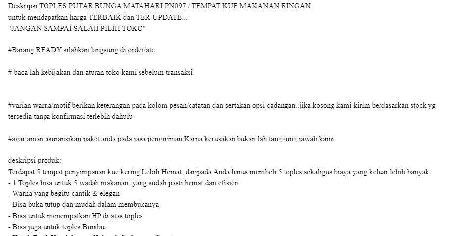 Stofer Toples Putar Bunga Matahari Pn097 Tempat Kue Makanan Ringan Lazada Indonesia