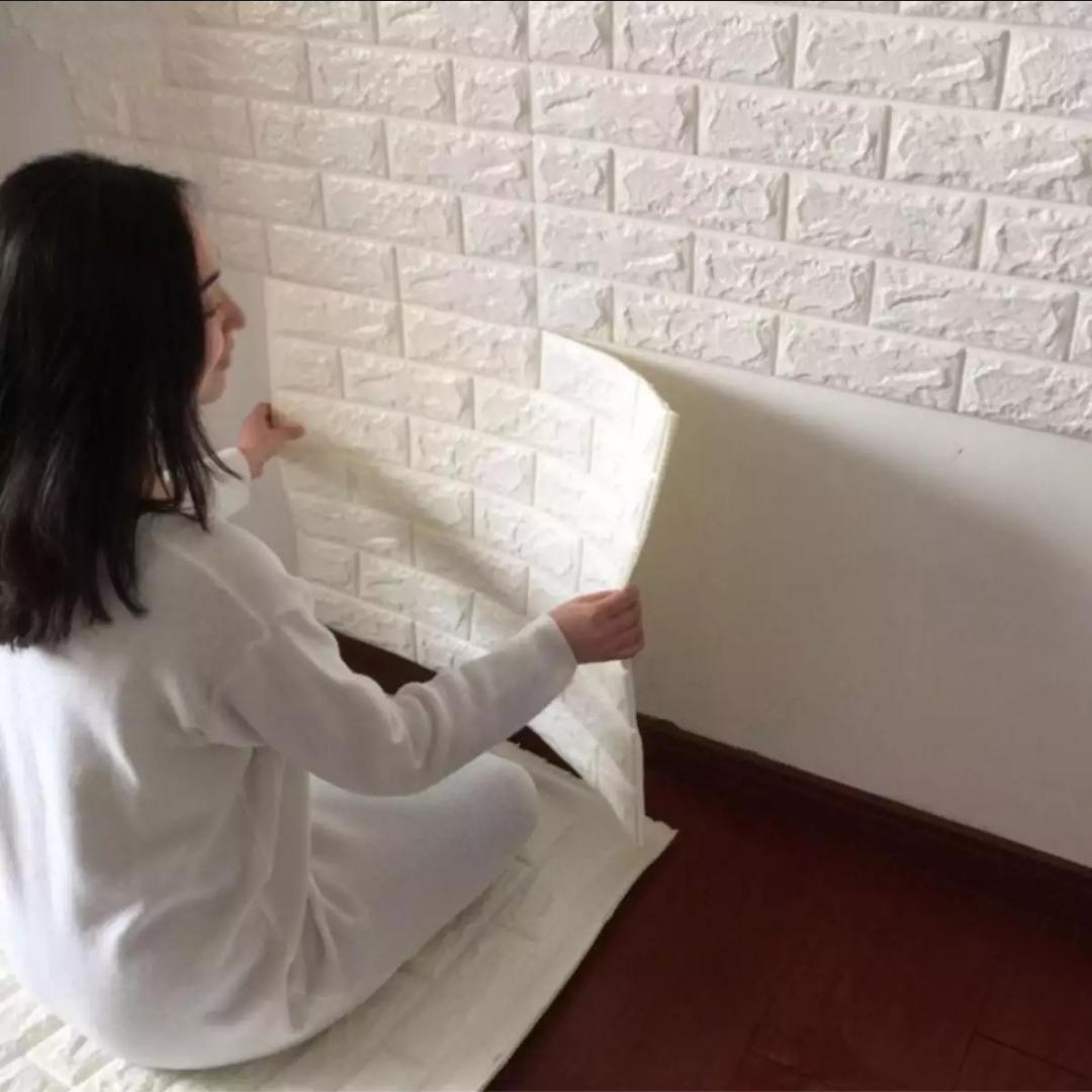 NAP Wallpaper Dinding Foam 3D TIMBUL Batu Bata Size 70 X 77 CM