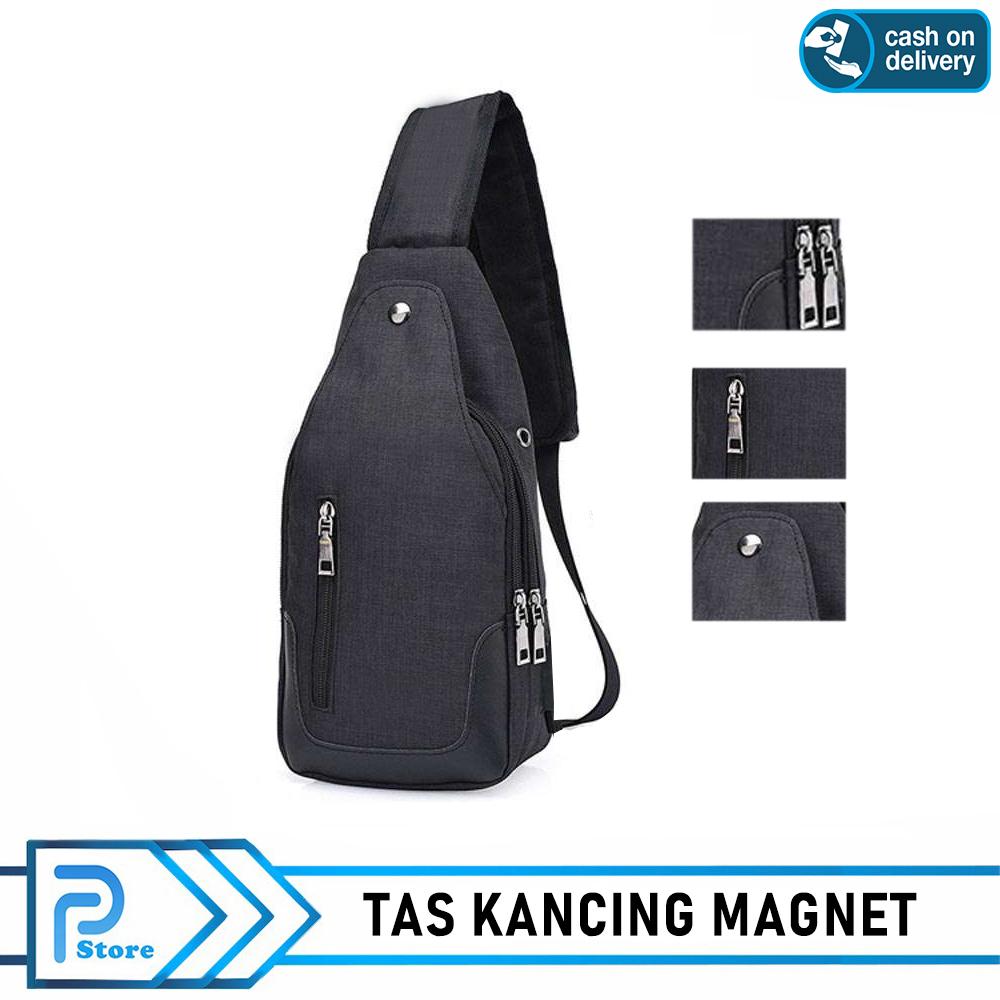 Detail produk dari Tas Slempang Kancing Magnet Import Impor Slempang Selempang Sling Bag Port Earphone - Perabote Store