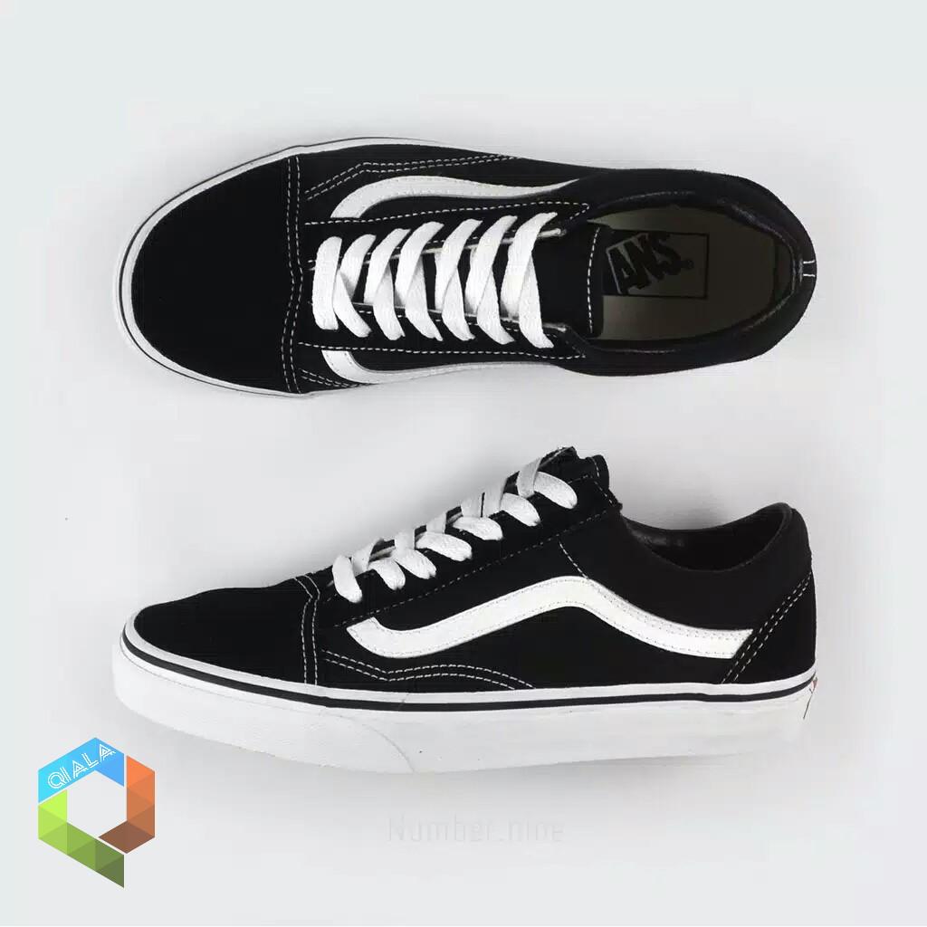 100% PREMIUM Sepatu VANS OLD SKOOL OG LX CLASSIC BLACK WHITE Hitam Putih An ORI ORIGINAL