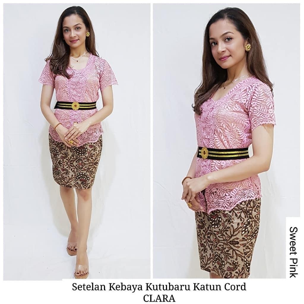Sixmo Baju Kebaya Brokat Setelan Kebaya Bali Kutubaru Clara Dan Rok Katun Batik Pendek Kebaya Bali Modern Lazada Indonesia
