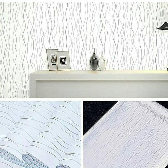 Wallpaper Dinding Desain Sendiri  wallpaper dinding minimalis motif kayu putih model terbaru