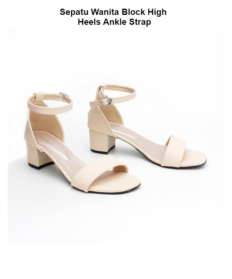 Sepatu High Heels Wanita Strap Lancip Cream Sherania R3 - Smart4K ... 5cb18d2bb7