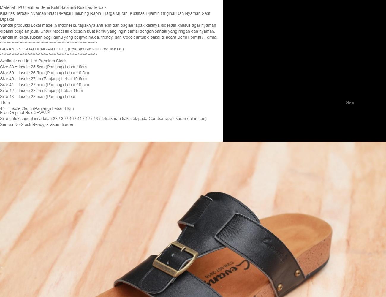 Harga New Sandal Pria Kulit Asli Casual Modis Remaja Warna Hitam Sendal Kasual Gaul Cevany Lucky Lelaki Leather Cowok Original