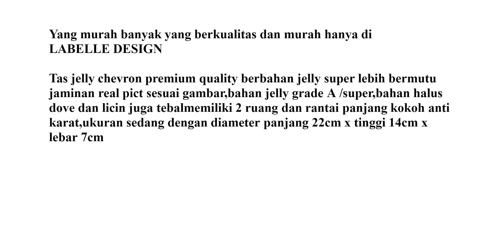 Labelledesign Tas jelly chevron uk besar BISA BAYAR DI TEMPAT free SYAL  BONEKA-tas wanita 7d3db53d31