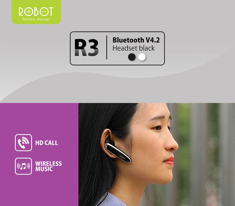 Robot R3 Earphone Headset Handsfree Bluetooth Premium V4 2 Lazada Indonesia