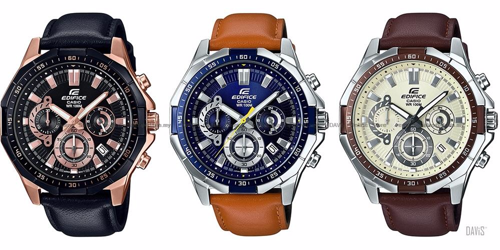 Spesifikasi dari Jam Tangan Pria Casio Edifice EFR-554L- Leather Series