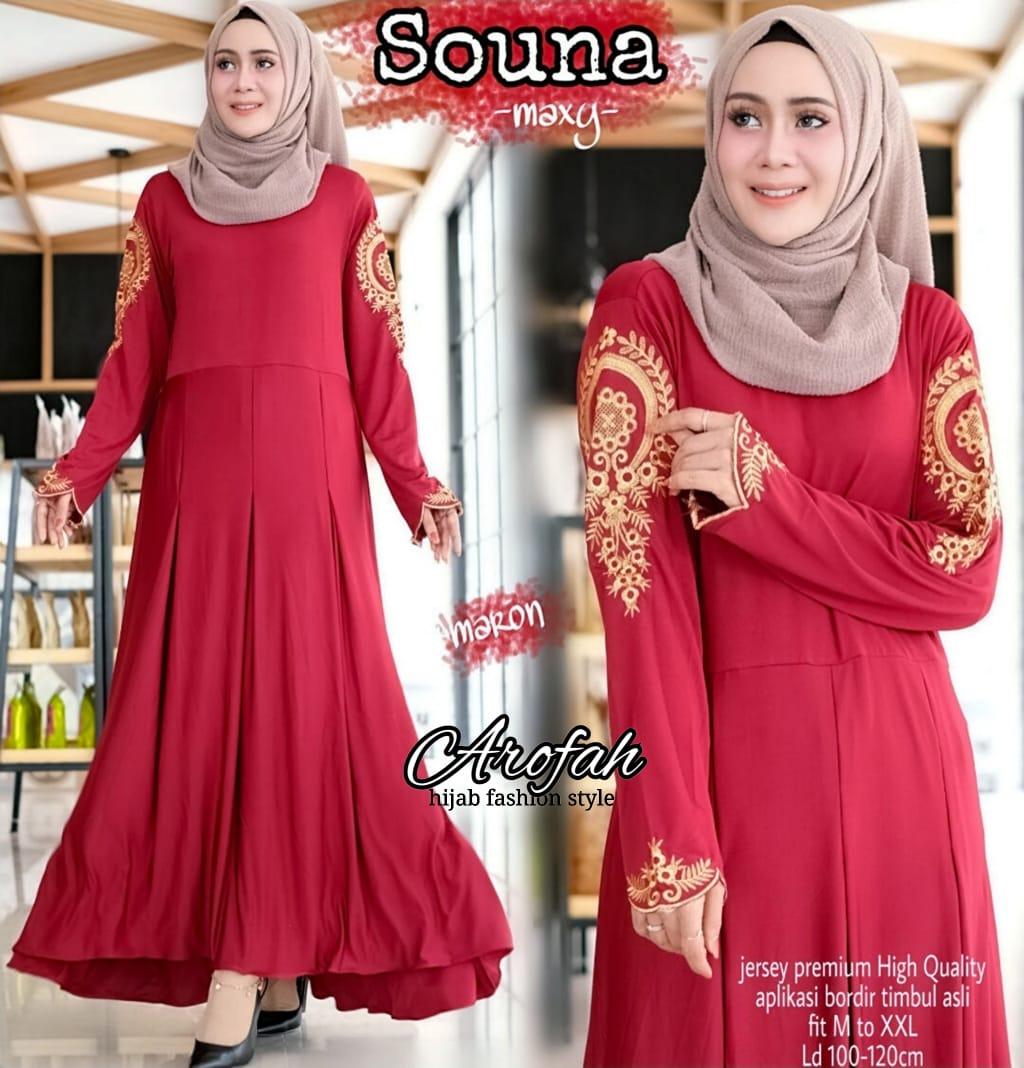 Baju KOndangan Cantik  Model Baju Syari modisbaju gamis syarimodel baju  brokat terusan gamis polkadot kombinasibaju muslim wanita terbaru 8