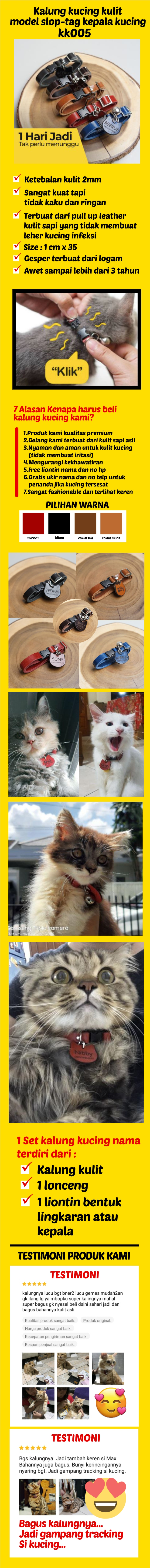 Kalung Kucing Nama Kalung Kucing Custom Kalung Nama Kucing Kalung Kucing Custom Nama Kalung Kucing Kulit Kalung Nama Kucing Anti Kucing Hilang Free Cetak Nama