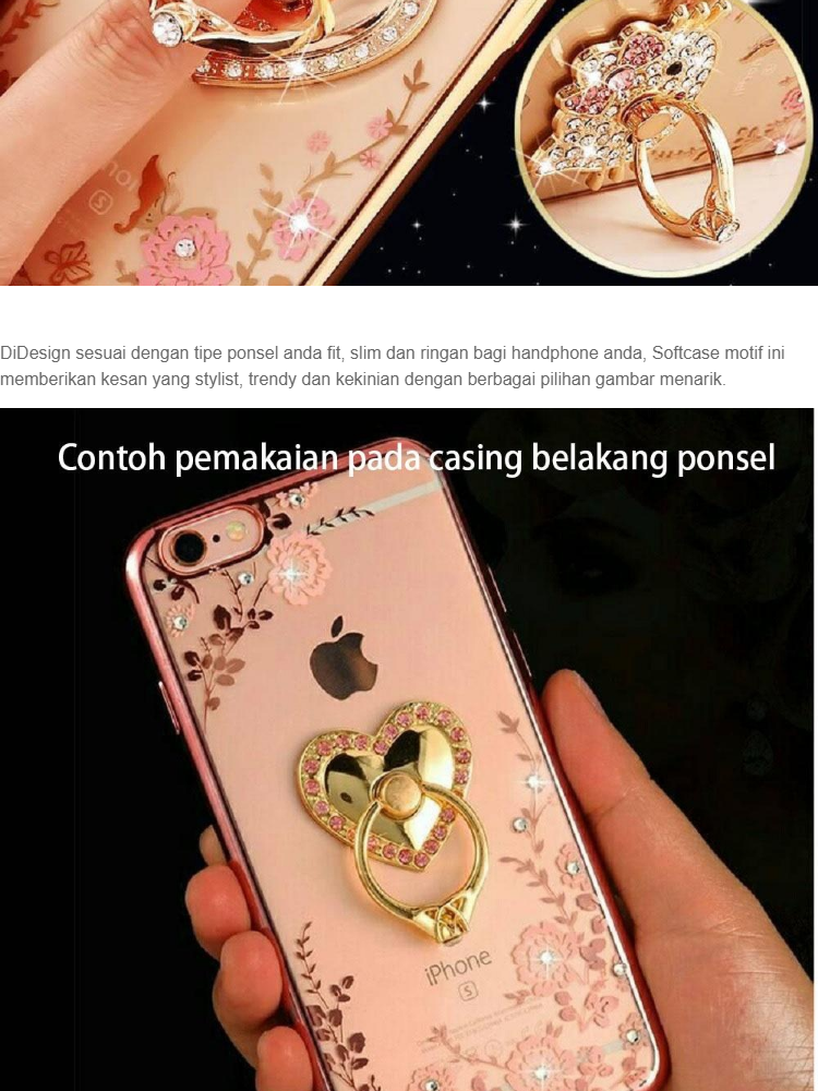MR Soft Case Girly Motif For Apple iPhone 7G / Softshell Swarovsky Apple iPhone 7S /
