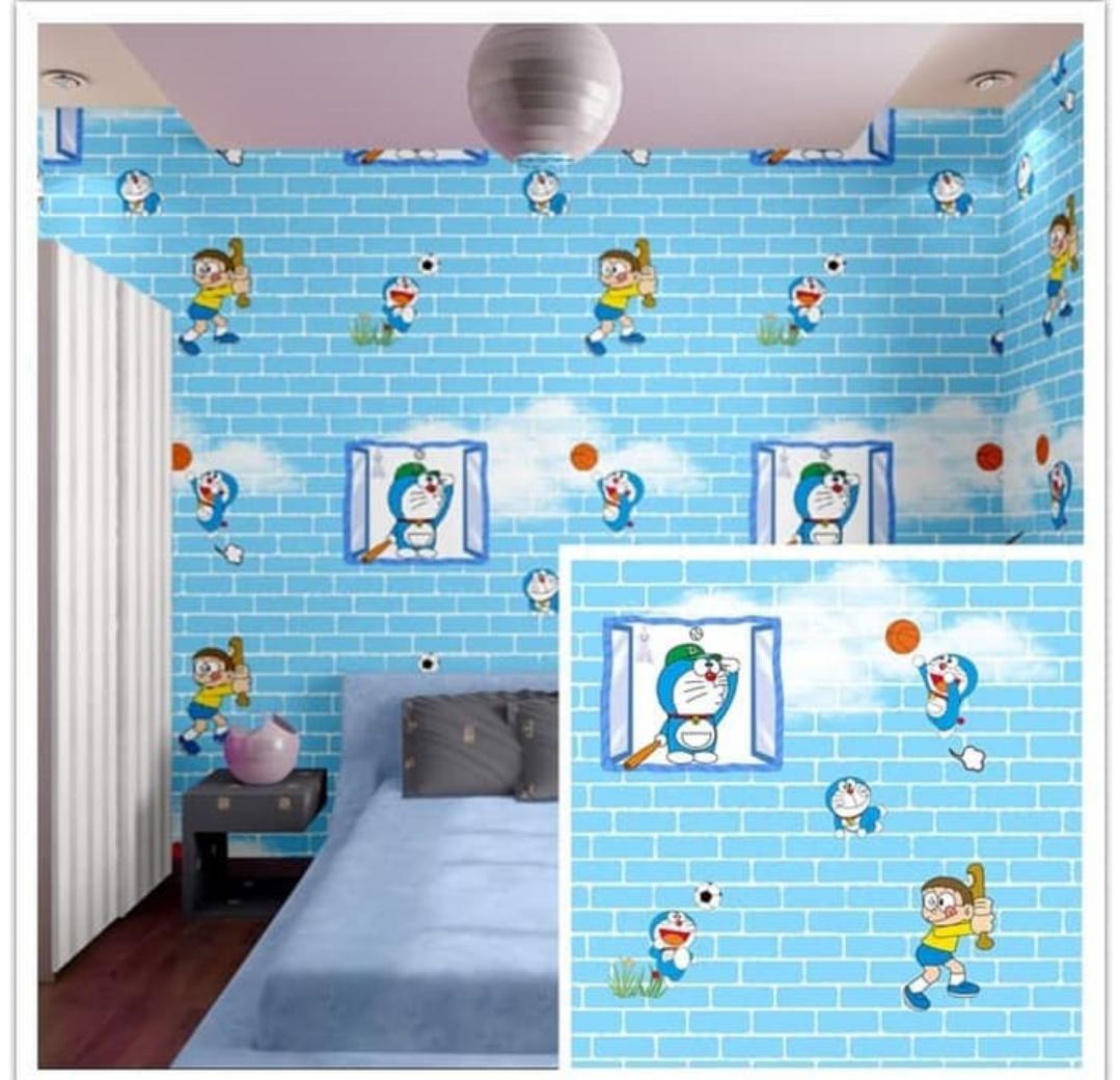 Wallpaper Doraemon Bata Biru