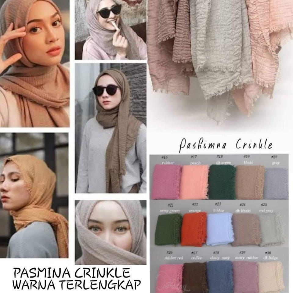 Hijab Pasmina Crinkle Warna Terlengkap Jilbab Pashmina Crinkle Warna Terlengkap Lazada Indonesia