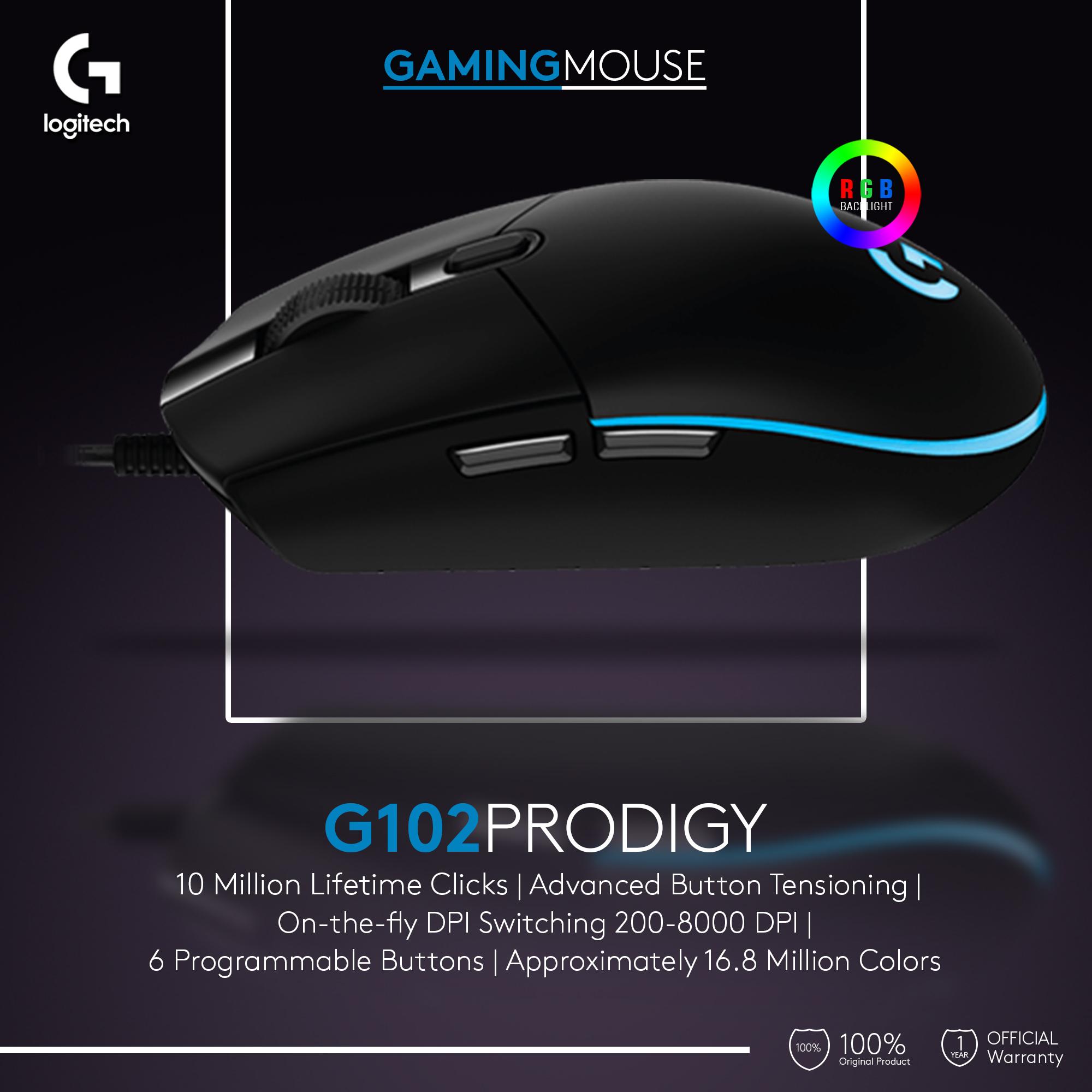 Logitech G102 Prodigy Gaming Mouse Rgb Lazada Indonesia Garansi Resmi 2 Tahun Berat 85 G Saja Panjang Kabel M