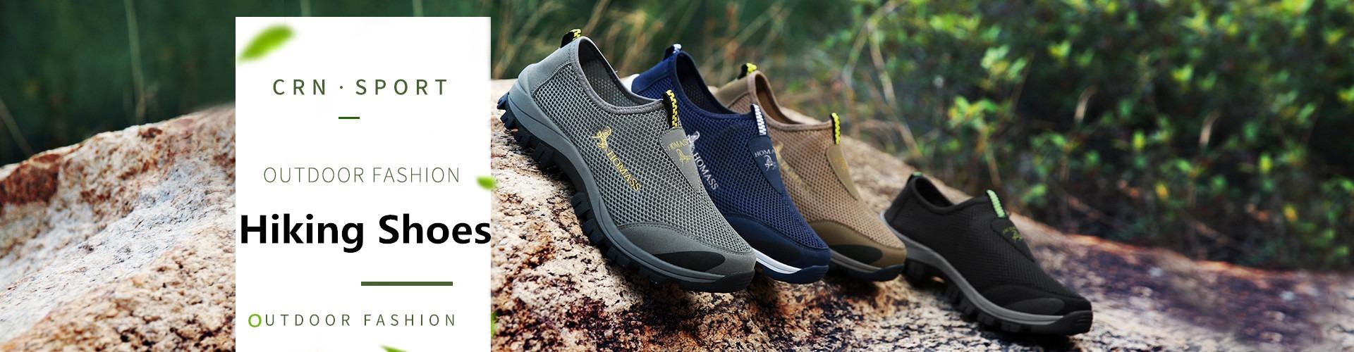 Mentee Ukuran Besar 39-46 Anti-Skid Slip-On Sepatu Mendaki Sepatu Jalan Luar Ruangan Sepatu Mendaki Nyaman Non-slip sepatu Pria