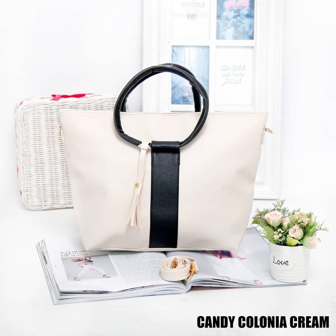 Radical Tote Bag Tas Jinjing Candy Colonia Cream Tas Fahsion Wanita Cantik - Cream
