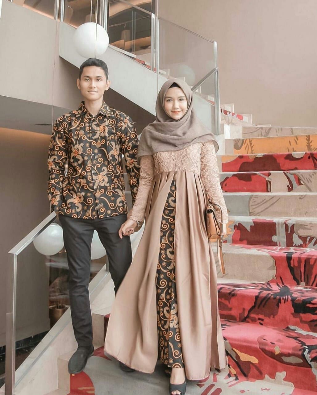 Kebaya Couple Modern Cape Brukat Terbaru Batik Couple Pesta Kondangan Baju Batik Couple Sarimbit Modern Azka Batik