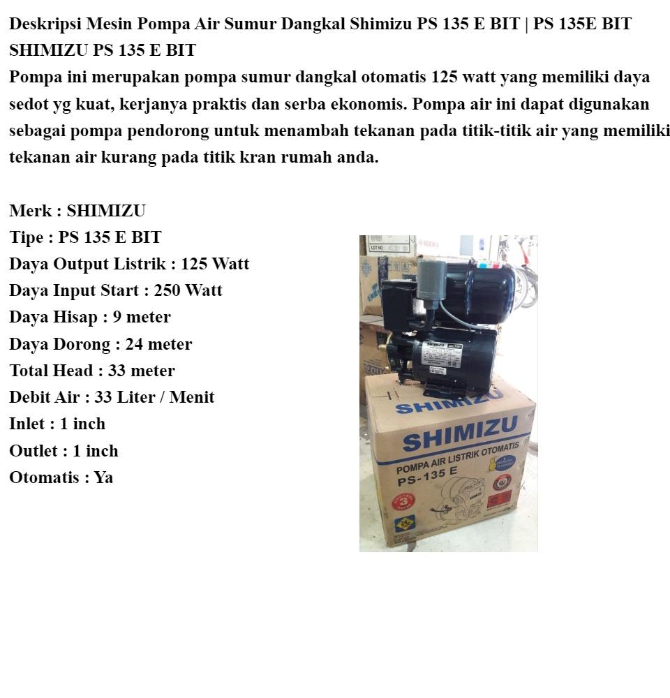 Bisa Cod Mesin Pompa Air Sumur Dangkal Shimizu Ps 135 E Bit Ps 135e Bit Mesin Pompa Air Mesin Pompa Mesin Shimizu Pompa Air Mesin Pompa Air Dangkal Mesin Pompa Air