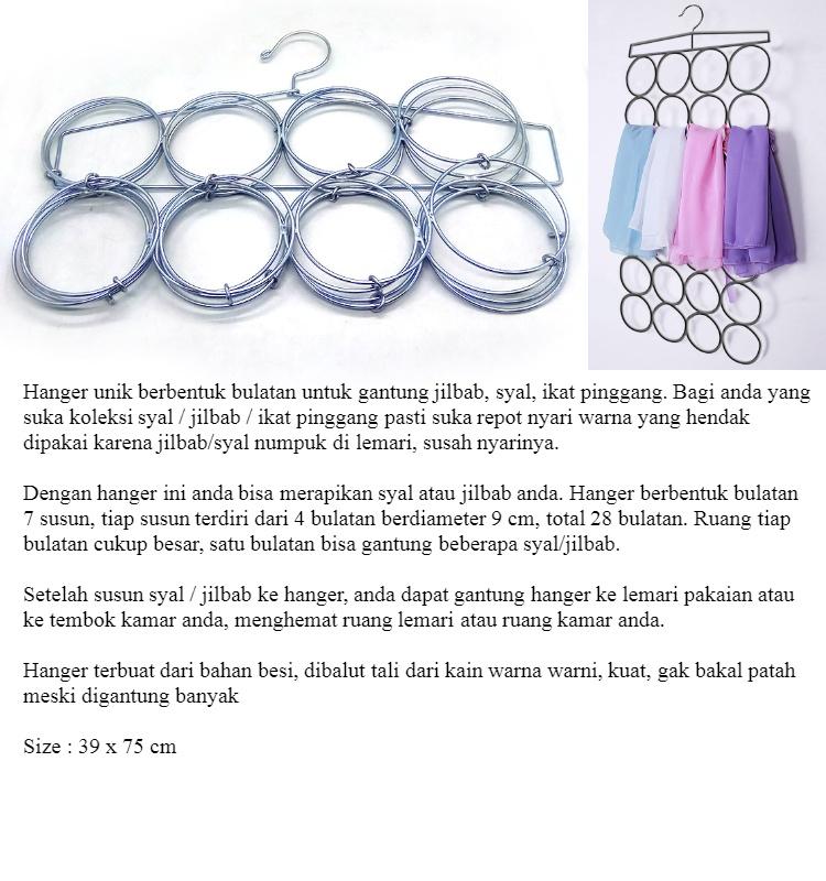 Toko David Hanger gantung jilbab stainless steel / gantungan syal / gantungan selendang / gantungan kain