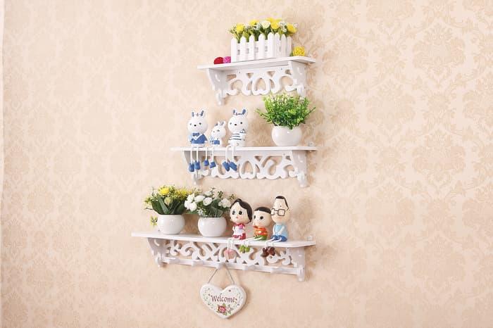 Desain Rumah Minimalis Yang Islami  1 set isi 3 pcs rak hiasan pajangan dinding kamar ruang tamu ruang makan rumah minimalis dari kayu wpc vintage diy 3d cafe islami sederhana untuk