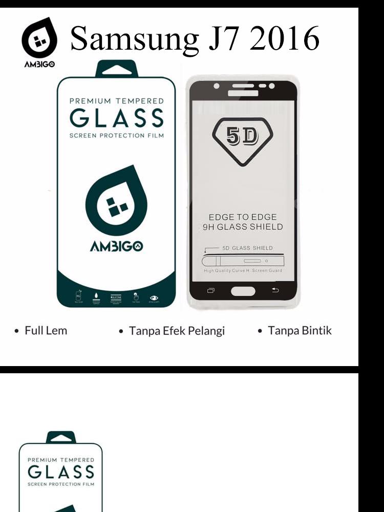 Accessories Hp Ambigo Tempered Glass 5D Full Cover Warna / Anti Gores Kaca Full Lem Untuk