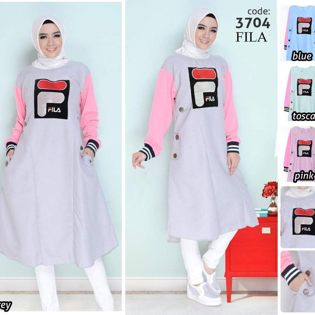 Baju Muslim Original Gamis Fila Two Dress
