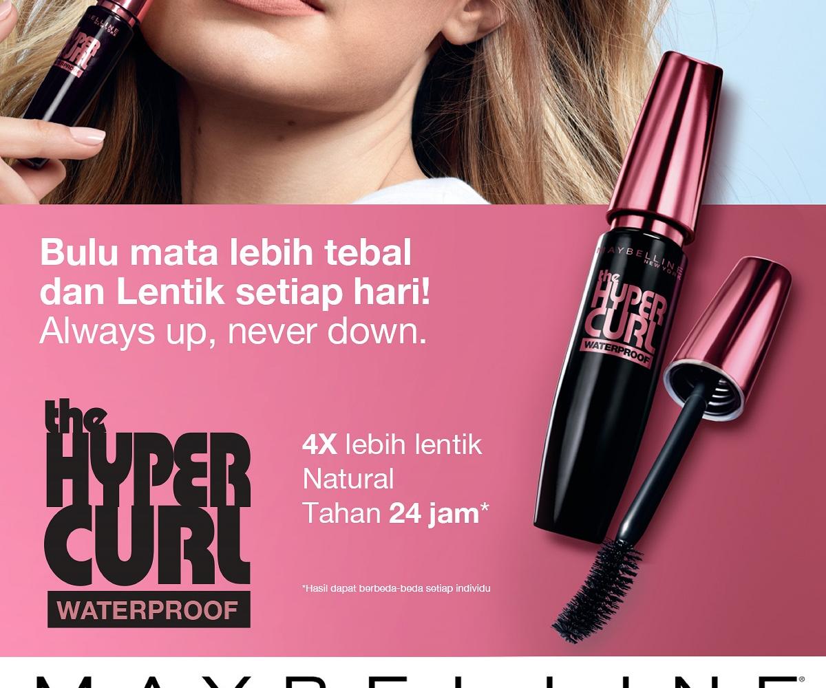 Maybelline Volum Express Hyper Curl Mascara Hitam Lazada Indonesia Hypercurl
