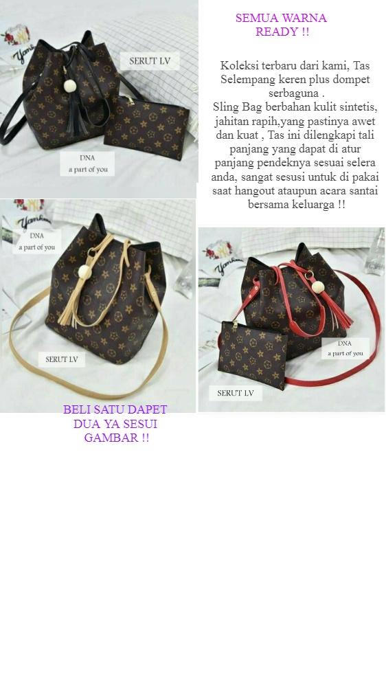 Hafiza store Tas wanita / tas jinjing / Sling bag Tas Selempang Tas Murah SERUT TALI   Lazada Indonesia