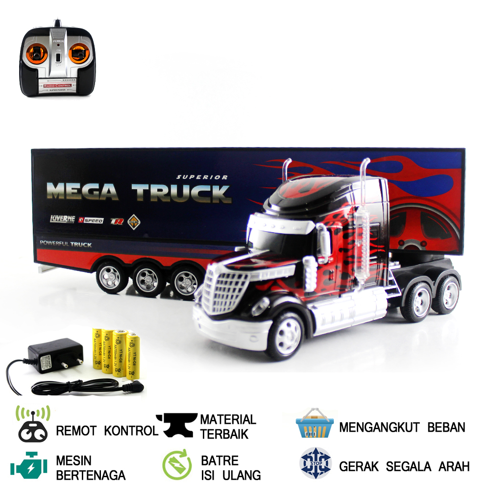 Mainan Mobil Remot Kontrol Rc Mega Truk Lazada Indonesia
