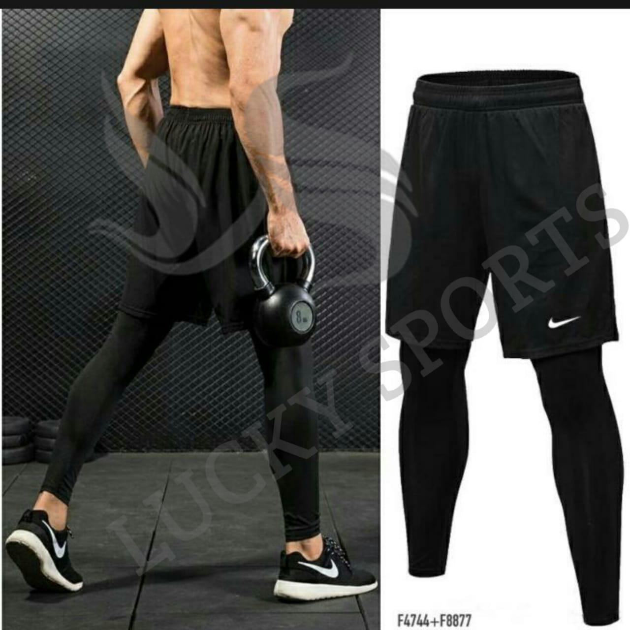 Lucky Sport Paket Promo Celana Legging Panjang Dan Celana Pendek Futsal Gym Fitness Training Volly Sepakbola Running Renang Lazada Indonesia