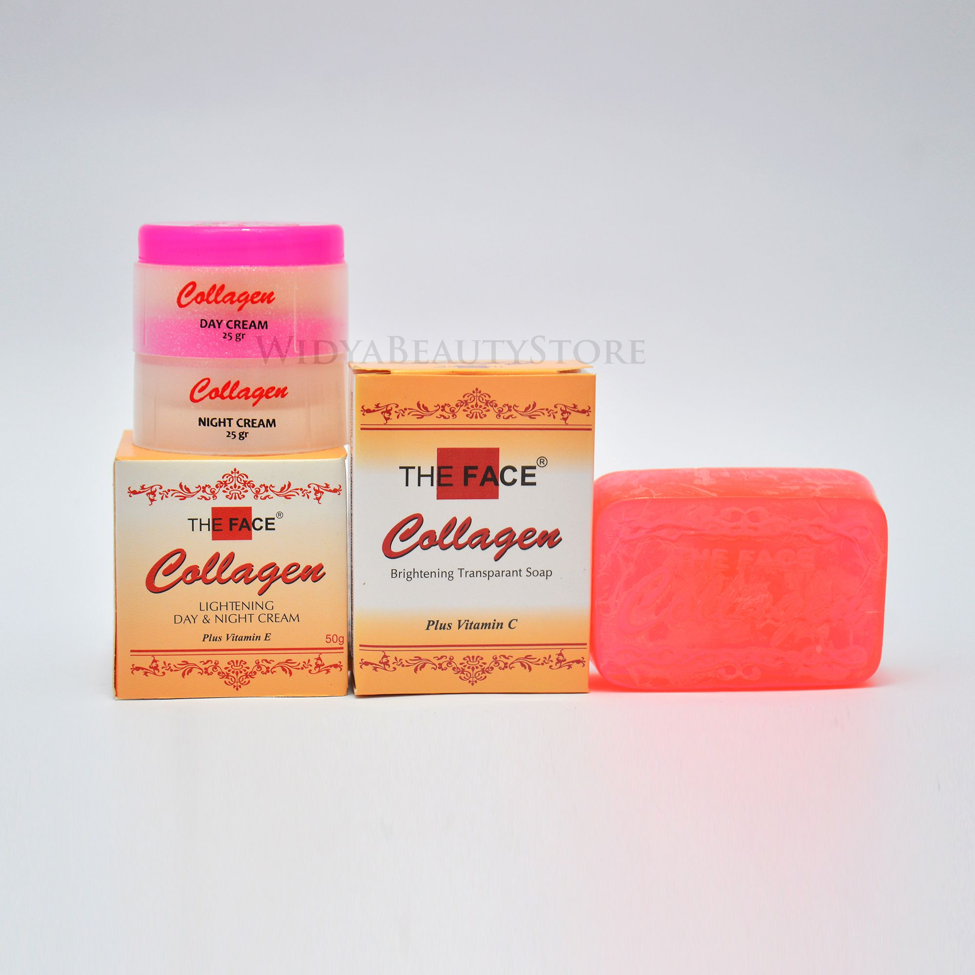 Paket Cream Collagen The Face Plus Sabun Wajah Original Bpom Krim Pemutih Wajah Collagen Lazada Indonesia