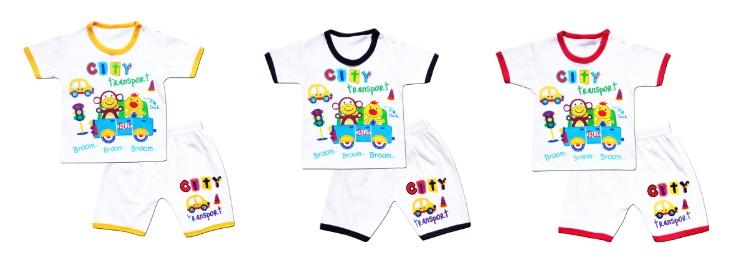 Skabe Baby Putih Baju Tangan Pendek Anak Bayi Laki Laki Setelan Kaos 2806