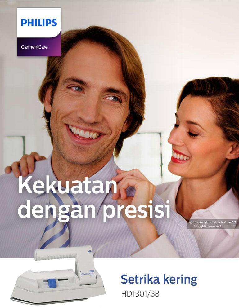 Detail produk dari Philips HD1301/38 Setrika Travel - Putih