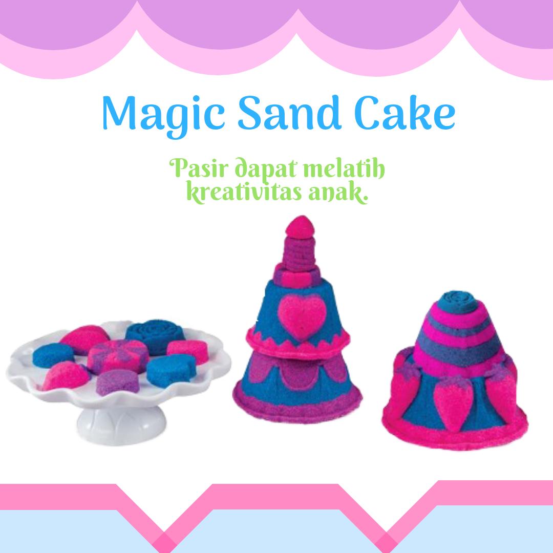 Mainan edukatif Pasir Ajaib / Magic Sand atau kinetic sand ini ini bahan utamanya adalah pasir, aman tidak beracun, tidak pudar, tidak lengket dan tidak ...