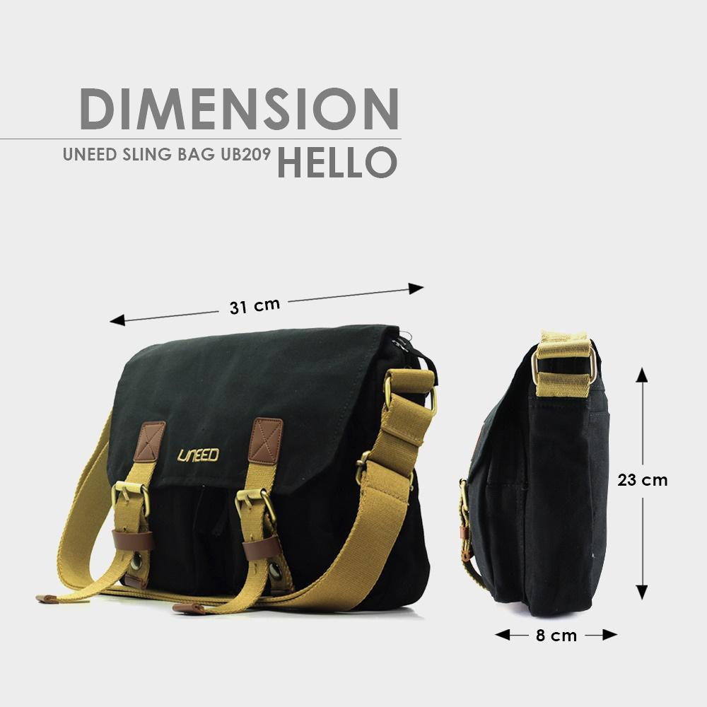 Detail produk dari Uneed Hello Tas Selempang Pria / Messenger Bag UB209 for Tablet 10 inch