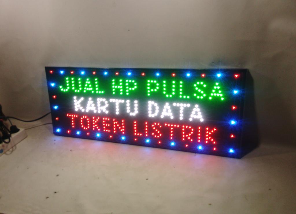 Tulisan Lampu Led Led Sign Jual Hp Pulsa Kartu Data Token Listrik New Lazada Indonesia
