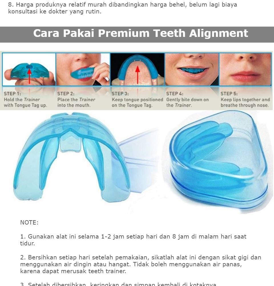 Alat Perapi Gigi Perapi Gigi Standar Biru Fase 1 Perapih Gigi Behel Ajaib ORIGINAL Teeth Trainer Tonggos Perapi Gigi Tonggos