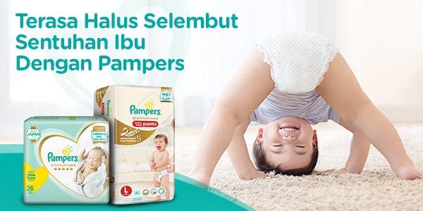 Pampers Popok Celana Size M 3x68 Premium Care - Popok Bayi