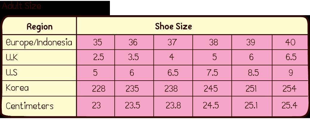 Ukuran Sepatu No 8 Sama Dengan Berapa Berbagai Ukuran