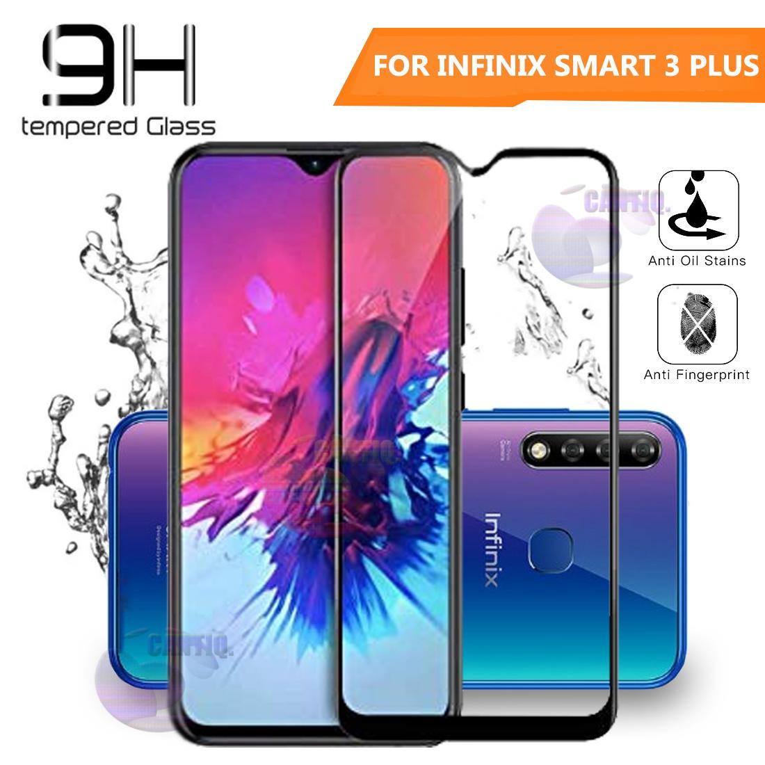 Beauty Tempered Glass Full Black Infinix Smart 3 Plus Ukuran 6 2