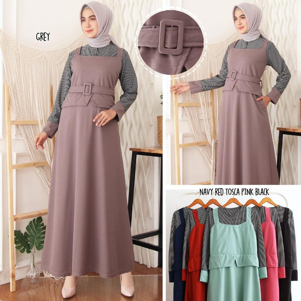 MFA Gamis muslimah fenuza / gamis wanita / gamis terbaru 10 / edisi  lebaran / baju lebaran / gamis syari / maxi gamis / gamis muslim / pakaian