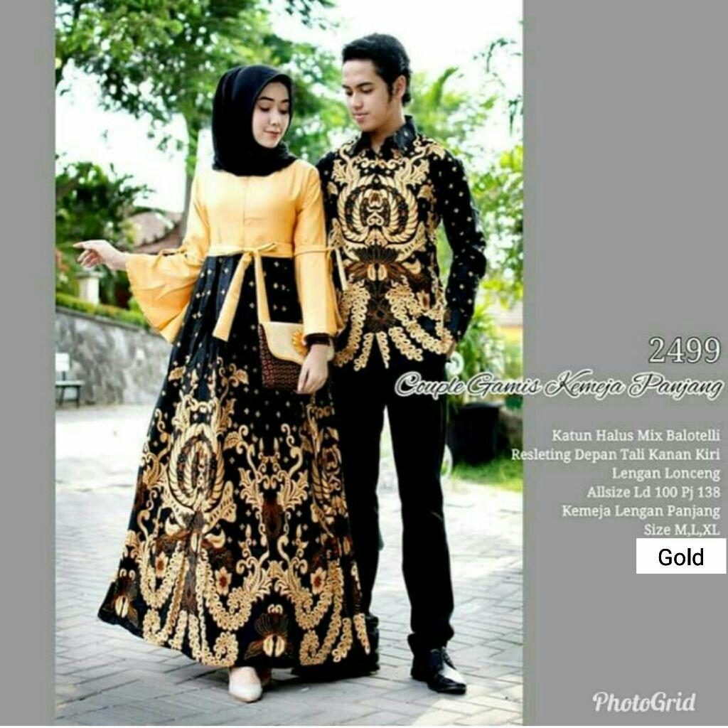 100 Termurah Cod Batikpermata Baju Batik Couple Batik Baju Muslim Wanita Terbaru 2019 Kebaya Coupel Modern Gamis Batik Black Dress