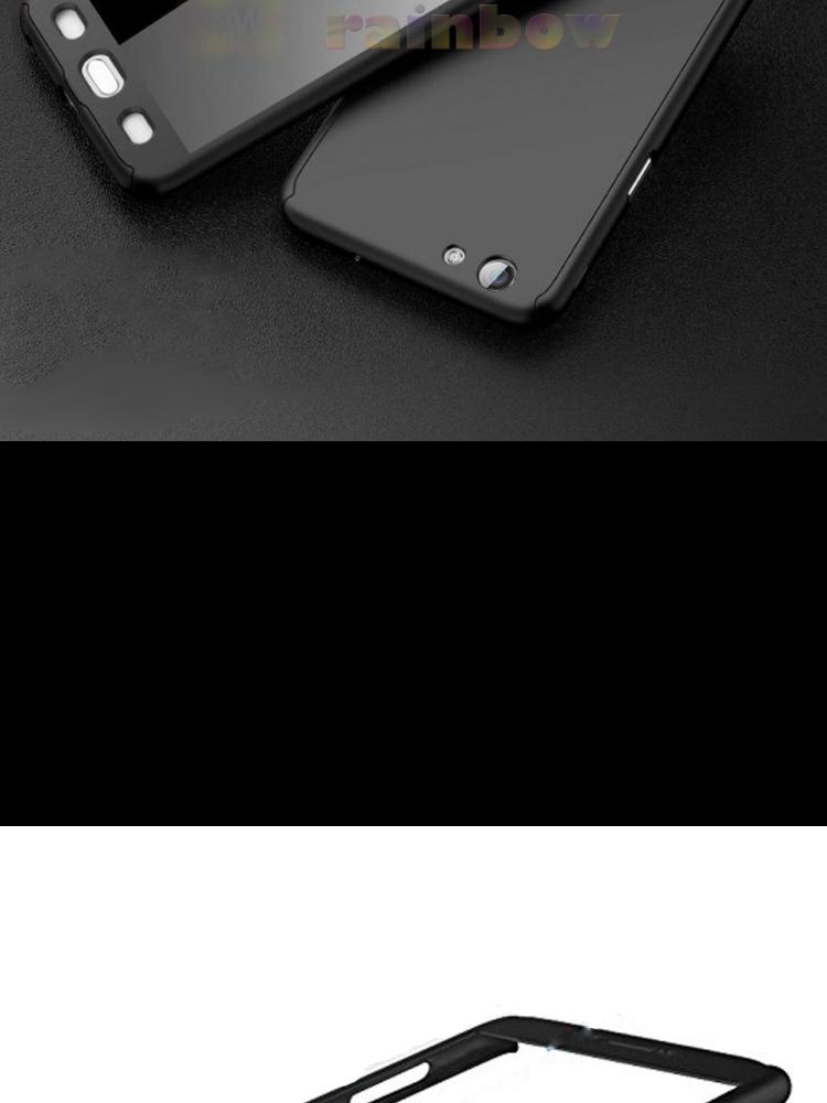 Rainbow Soft Case 360 Vivo V5 Black (2in1) Baby Skin Softcase Vivo V5 / Case Fullbody Depan Belakang Vivo V5 / Silikon Vivo V5 2 in 1 Double Case Vivo V5 ...
