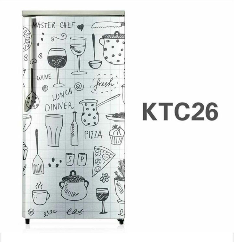 stiker kulkas 1 pintu size 60 x 120cm stiker kulkas 2 pintu size 60 x 150cm motif and karakter kitchen putih