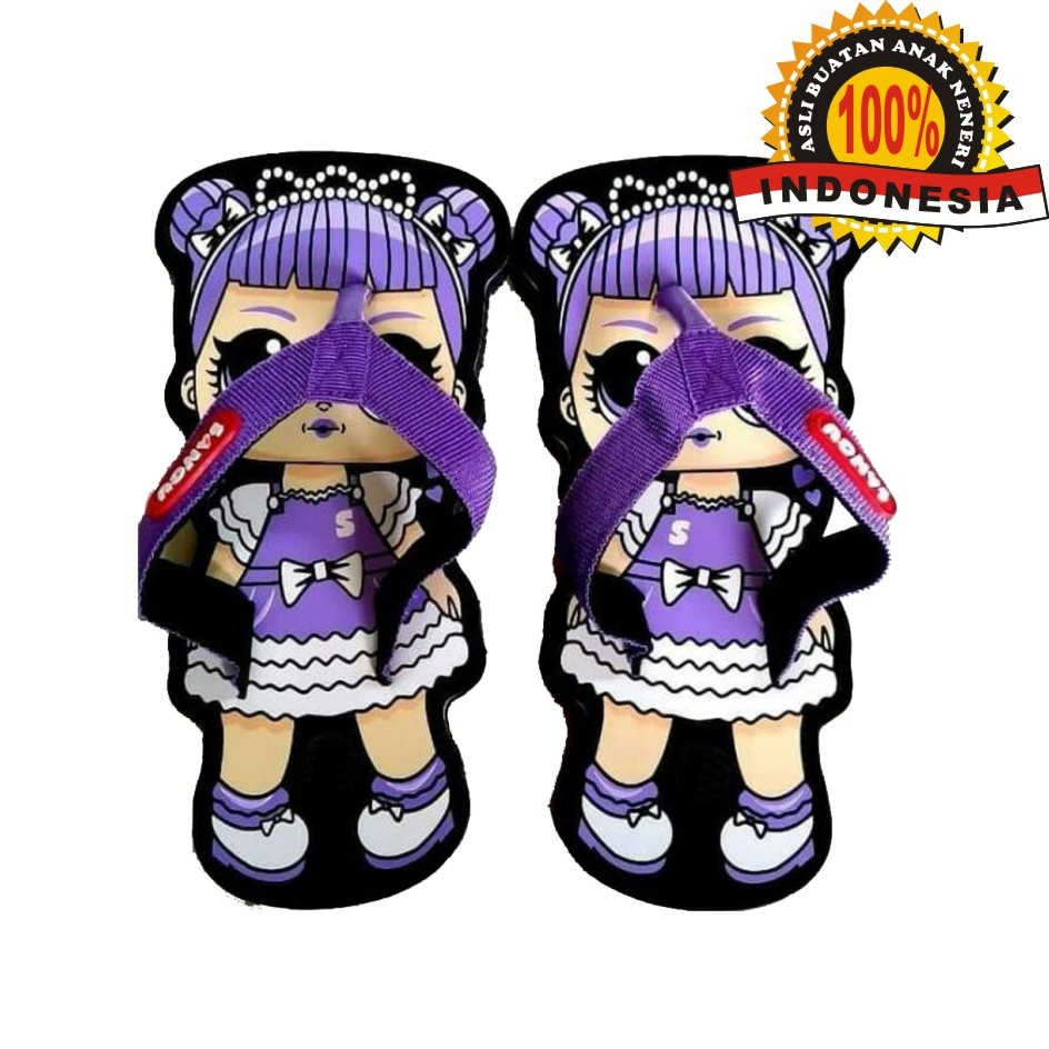 Sandal Lucu Karakter SANCU Gambar Baby Girl Size 21 24 28 30 32 34 36 38 40