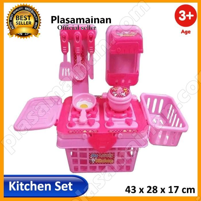 Free Ongkir Momo Toys Mainan Masak Masakan Mainan Anak Perempuan My Lovely Kitchen Set 901k Pink Lazada Indonesia