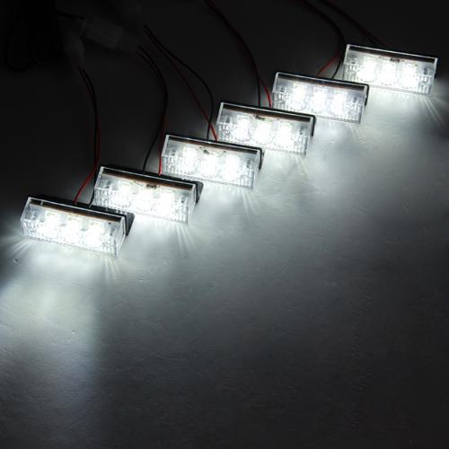 ... E, &, F berkedip sekali. Diulang terus-menerus. C: Semua 6 panel lampu flash secara bersamaan dengan satu kali berhenti sejenak di antara setiap flash.