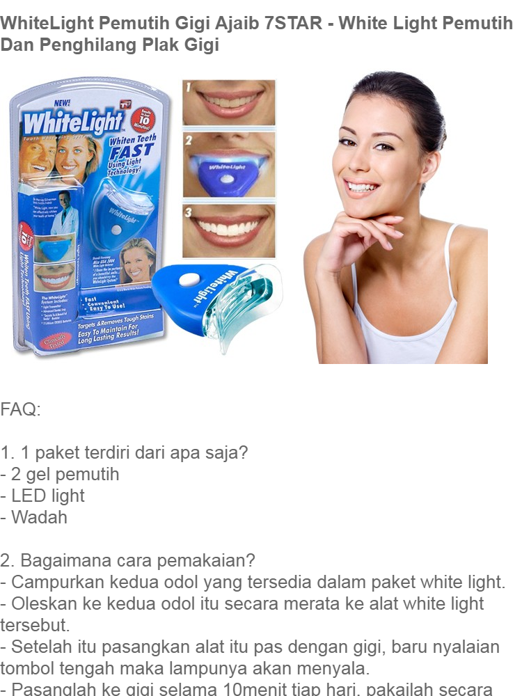 Jual Whitelight Original Usa Pemutih Gigi Instant No 1 Disarankan