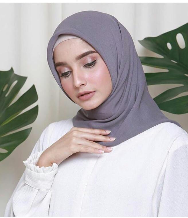 Cinta Hijab Kerudung Segi Empat Wolpis Hijab Wanita Cantik Kerudung Jilbab Lazada Indonesia