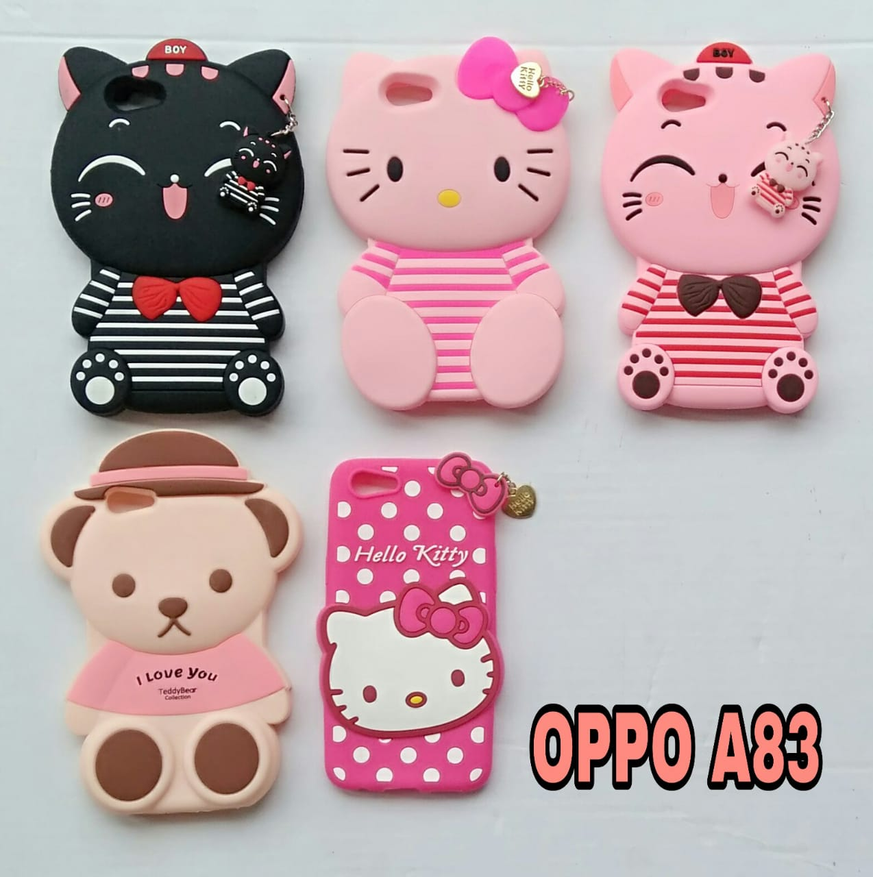 promo code ca13b 3c825 Softcase 3D For OPPO A83 // Case Boneka Lucu Character Cartoon 4D  penjipeaceOLS
